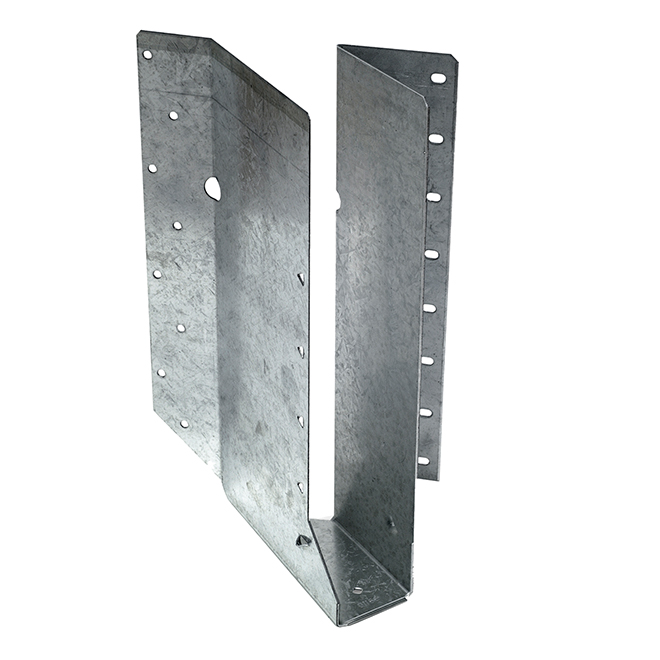 Simpson Strong-Tie Joist Hanger Left Skew at 45° Z-Max - 16-Gauge Galvanized Steel - 2-in x 6-in