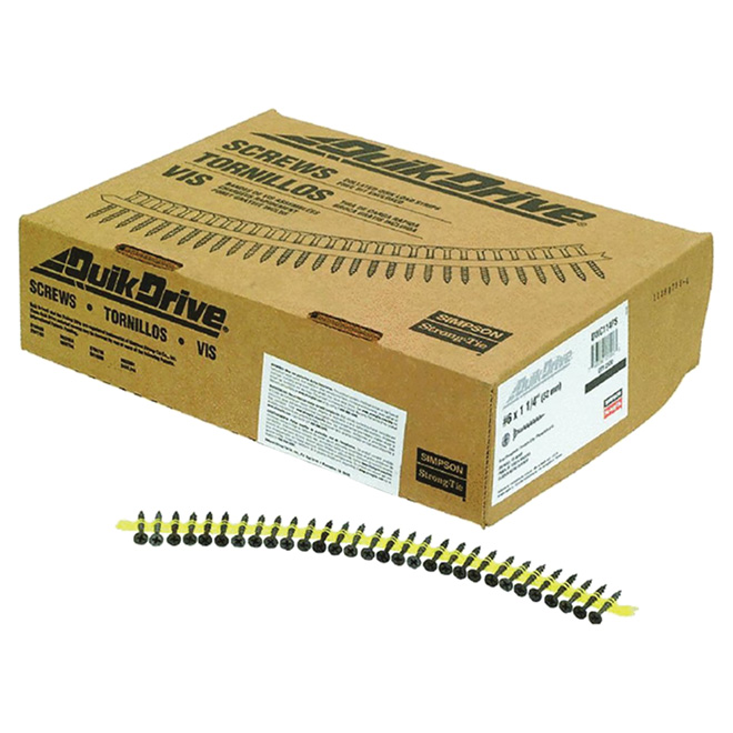 "Drywall Screws #6 x 1 1/4"", box of 1000"