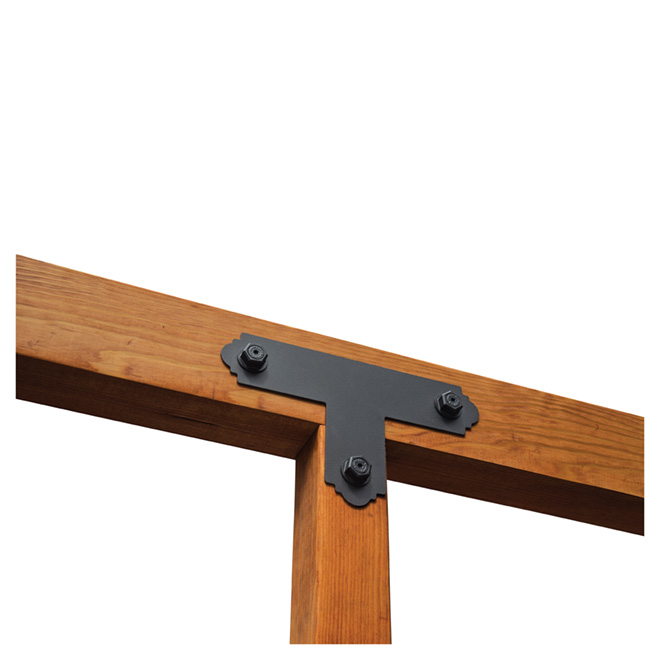 """Galvanized Steel T Strap, Black, 13 1/2'' x 8 1/4"""""""