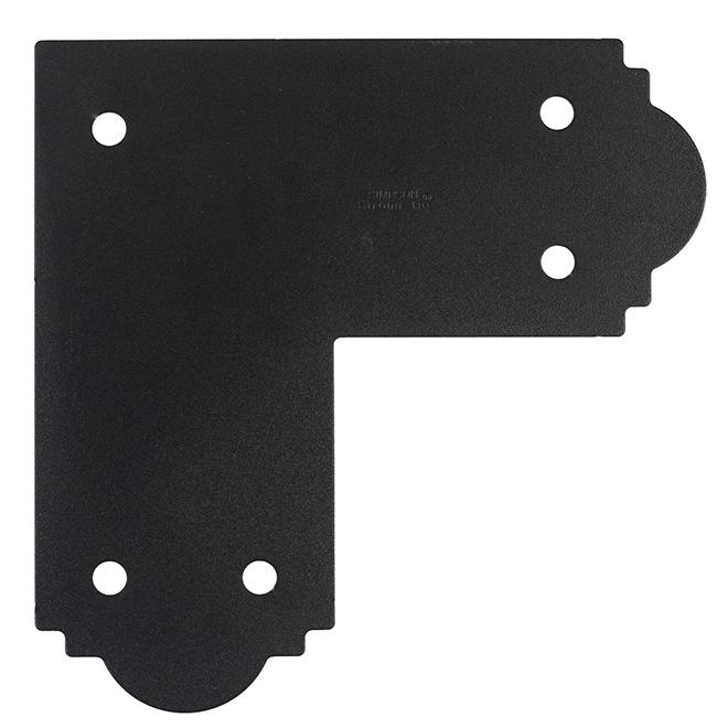 """Ancrage en L, acier galvanisé, noir, 5'' x 11 1/4"""""""
