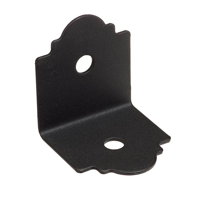 "Galvanized Steel 90° Angle - 3'' x 3'' 1/4'' x 3"" - Black"