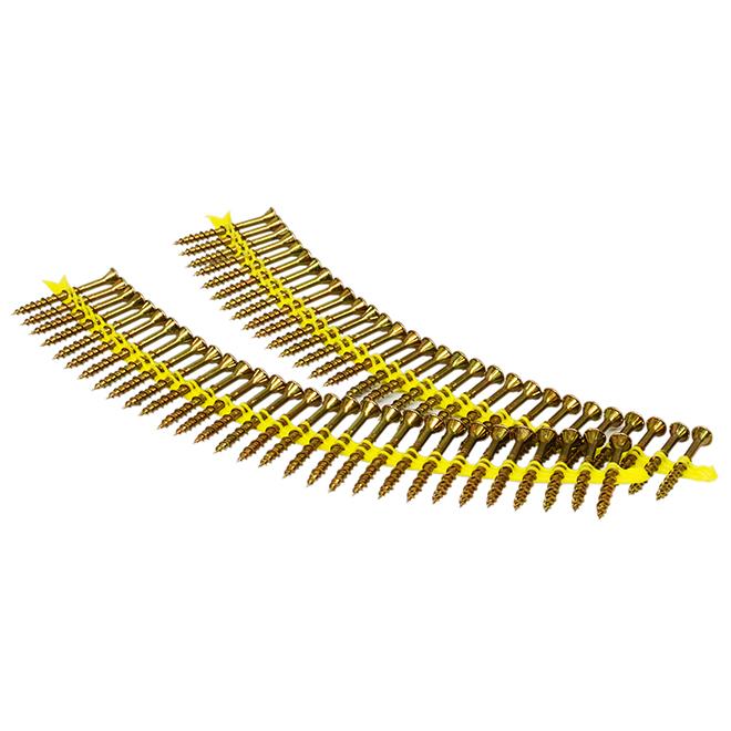 Subfloor Screw - Strip - Yellow Zinc - # 9 - 2'' - 2000/Box