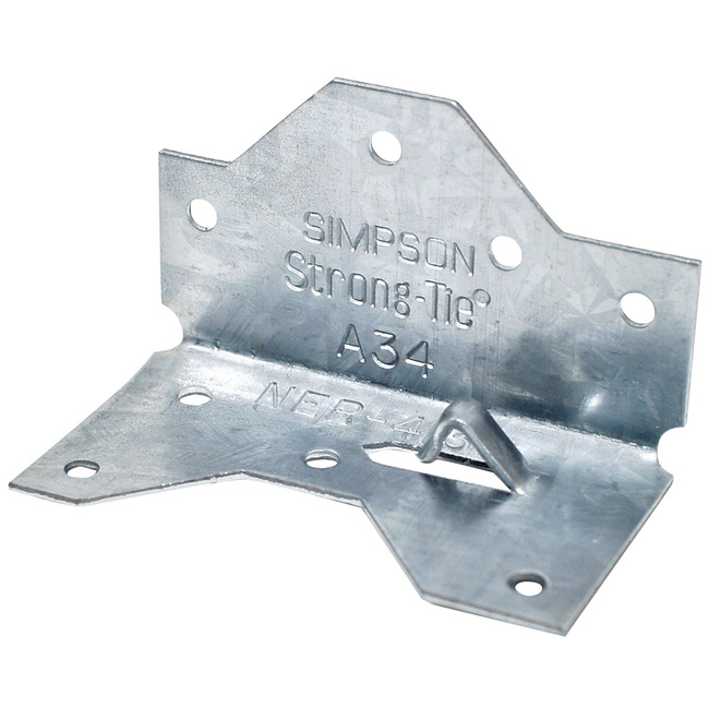 Simpson Strong-Tie ZMAX Framing Angle - 1.43-in x 2.5-in - 18-Gauge Galvanized Steel