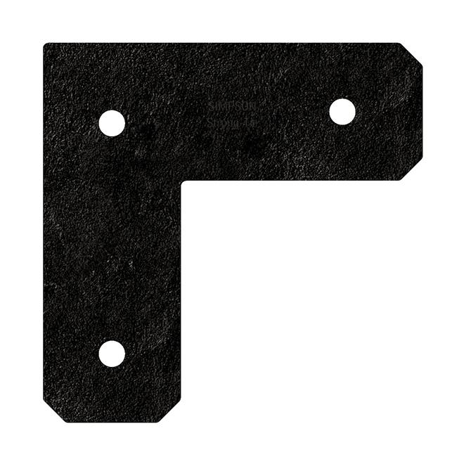 Attache en L Simpson Strong-Tie avec fini galvanisé ZMAX(MD) pour 4x4, collection Avant(MC), noir