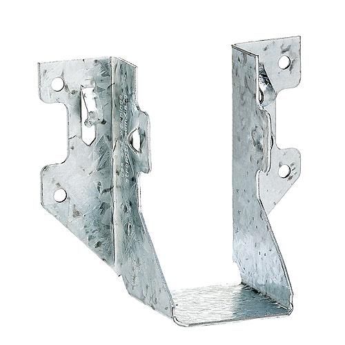 Étrier à solive Simpson Strong-Tie, 2 po l. x 4 po H., calibre 18, zingage triple, montage de face, paquet unitaire