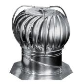 Rotary Turbine with External Bracing - Galvanized  -12""
