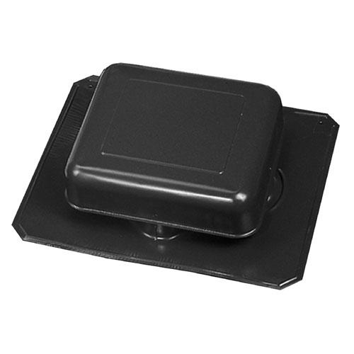 Aluminum Square-Top Roof Static Vent in Black