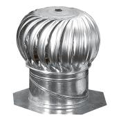 Rotary Turbine with Internal Bracing - Galvanised - 12""