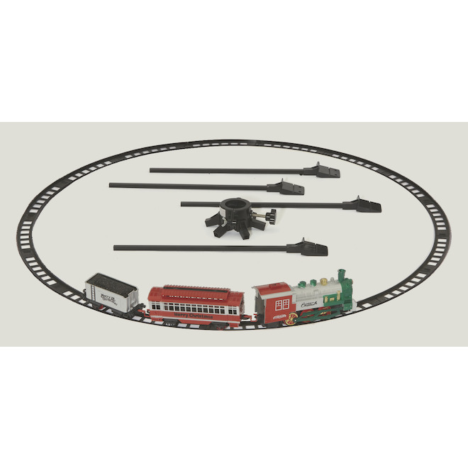 Mr. Christmas - Train Around the Tree - ABS - 42-in x 42-in x 3.5-in - Multicolor