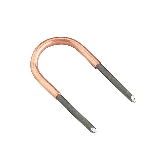 1/2'' Hanger and Straps - Copper U-Clips - Bag of 10