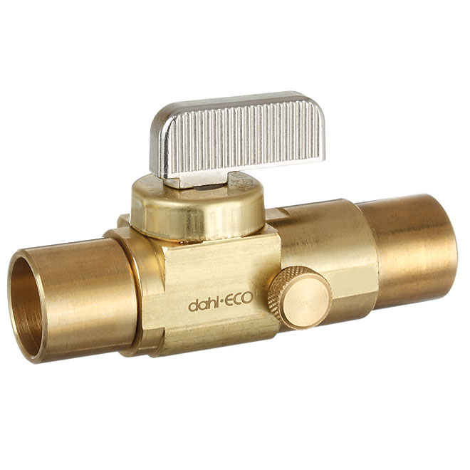 In-line Stop Valve with Drain