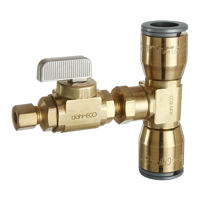 Straight Ball Valve with Tee Coupling Kit