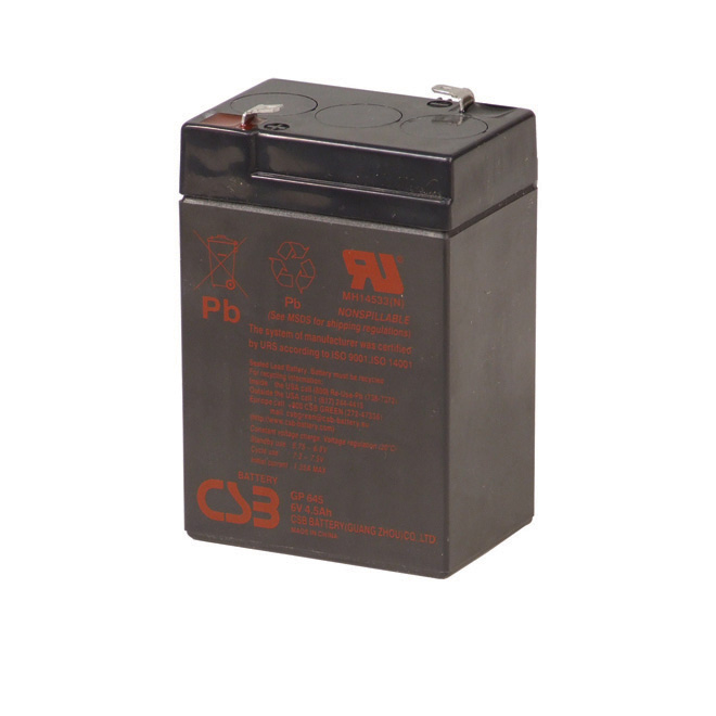 """""""GP645"""" Replacement Battery - 6 V - 4.5 AH"""