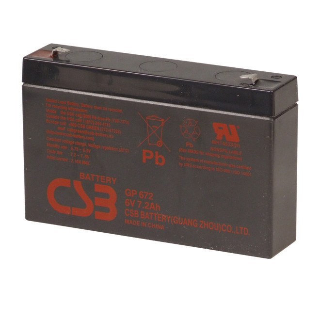 """GP672"" Replacement Battery - 6 V - 8,4 AH"