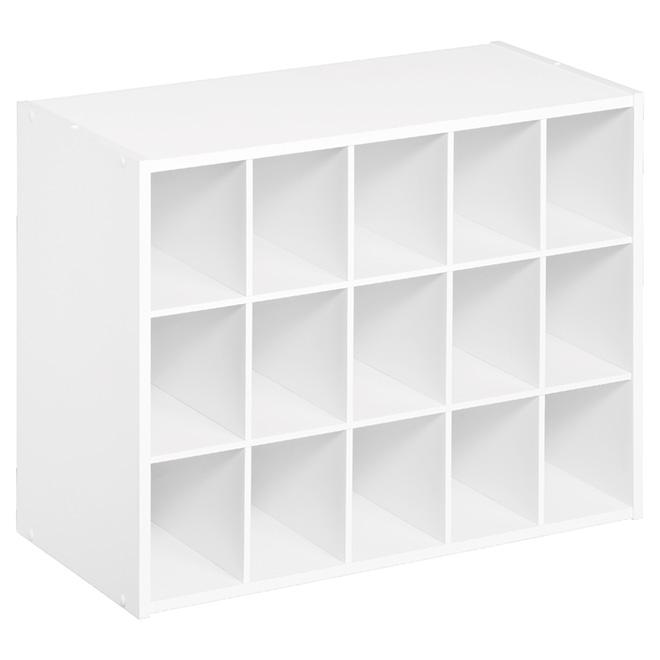 Organisateur à 15 compartiments 20 po x 24 po, blanc