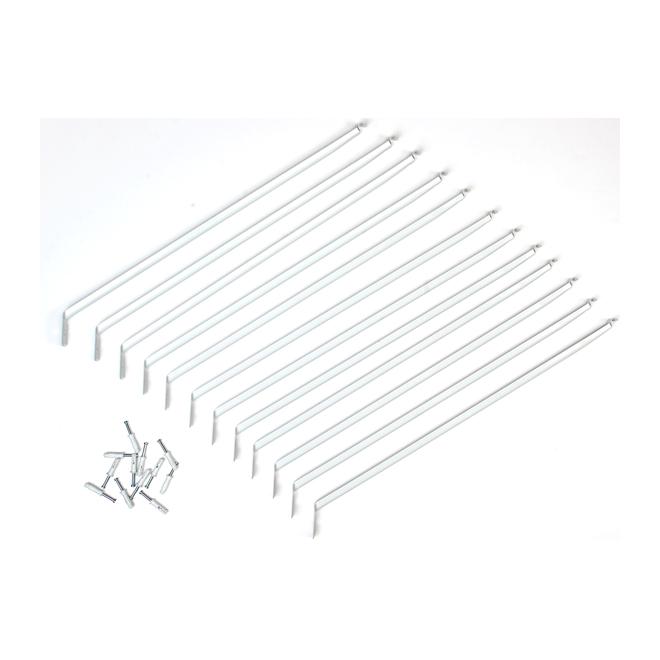 Support à tablette ClosetMaid, 2 po H. x 1 po l. x 12 po P., blanc, ensemble de 12