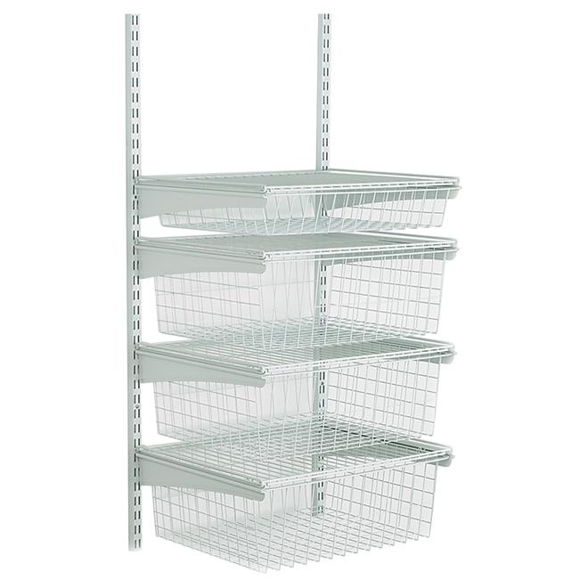"""""""ShelfTrack"""" 4-Drawer Wire Shelf - 19"""" x 17"""" x 27"""""""