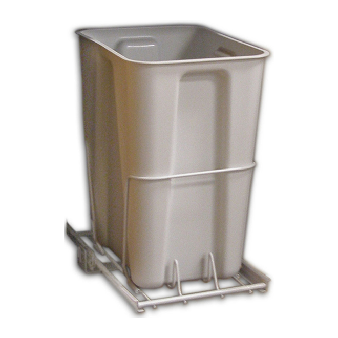 ClosetMaid Pull-Out Trash Bin - 24 Qt - White