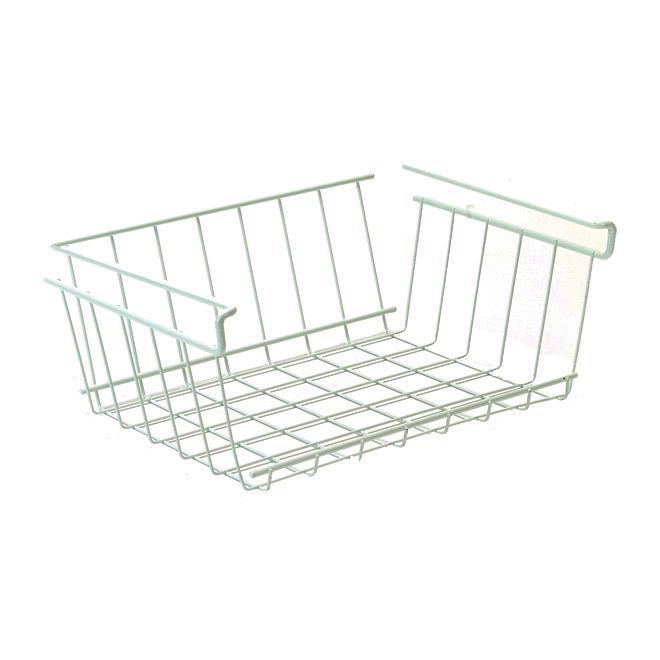 ClosetMaid Under Shelf Storage Bin - Epoxy-Coated Steel - White - 33 31/32-in W x 12 1/16-in H x 24 1/8-in D