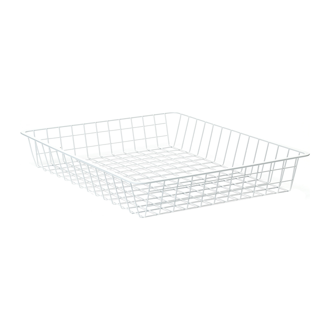 Metal Wire Basket - White