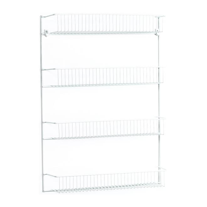 "ClosetMaid 4-Tiers Wall Rack - 18.75"" x 25.75"" x 5"" - White"
