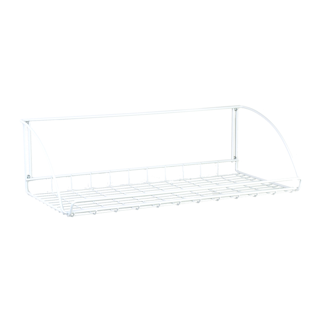 "ClosetMaid Laundry Shelf - 24"" x 12"" x 7"" - White"