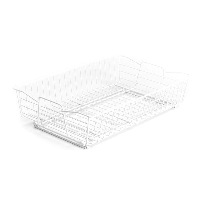 ClosetMaid Deep Wire Basket Kitchen Organizer - 14-in - White