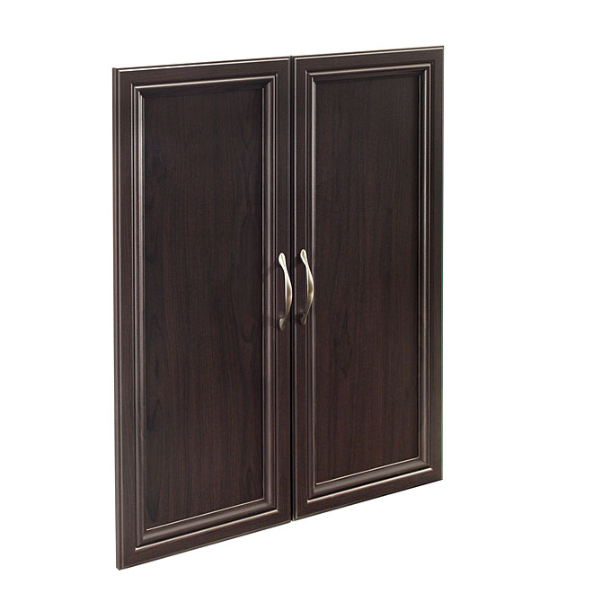 Set of 2 Panel Doors - Espresso