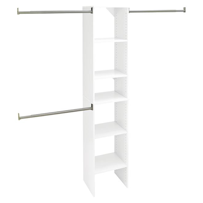 "Closet Organizer Starter Kit - 16"" - Pure White"