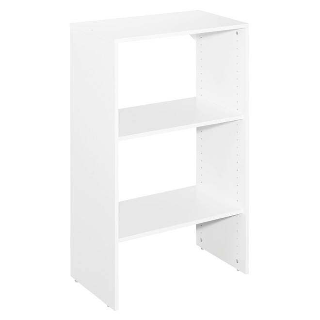 "3-Shelf Closet Organizer Tower Base - 25"" - Pure White"