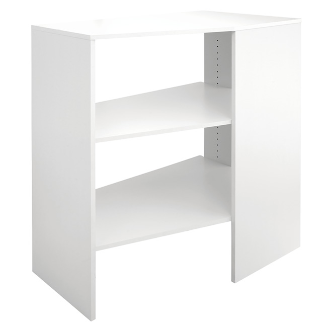 3 Shelf Corner Closet Organizer   Pure White