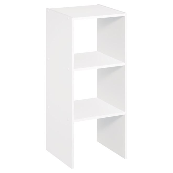 """Rangement vertical et superposable, 31"""" x 12"""", blanc"""