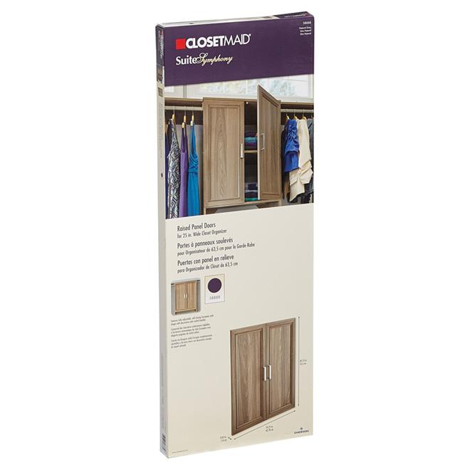 """Closet Organizer Door Set - 25"""" - 2 Pieces - Natural Grey"""