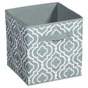 "Fabric Drawer - 10.5 x 10.5 x 11.0"" - Grey"