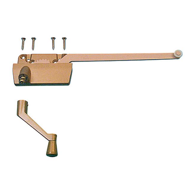 Mécanisme de verrouillage de fenêtre à bras simple Truth Hardware de Prime-Line, cuivré, ouverture à droite, 9 1/2 po