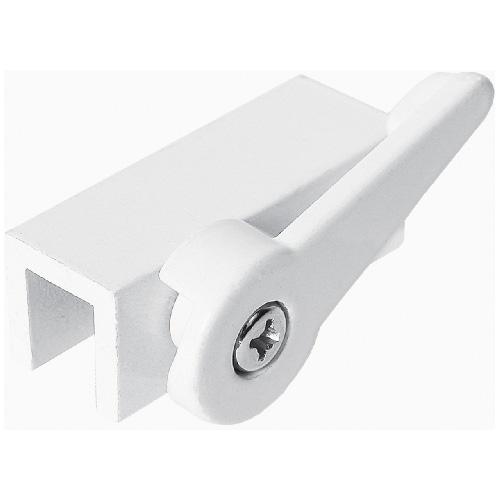 White Aluminum Cam Action Window Lock
