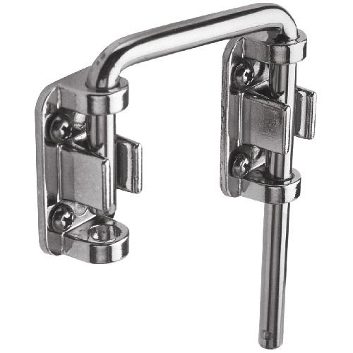 """Chrome Plated Steel Sliding Door Loop Lock - 2 1/8"""""""