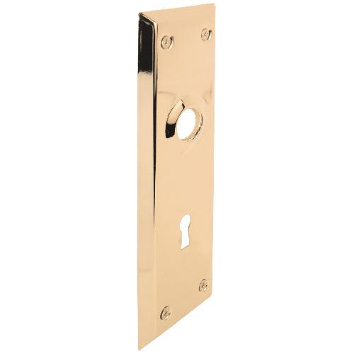 """Door Plate - Steel - 2 1/4"""" x 7 1/8"""" - Brass Finish"""
