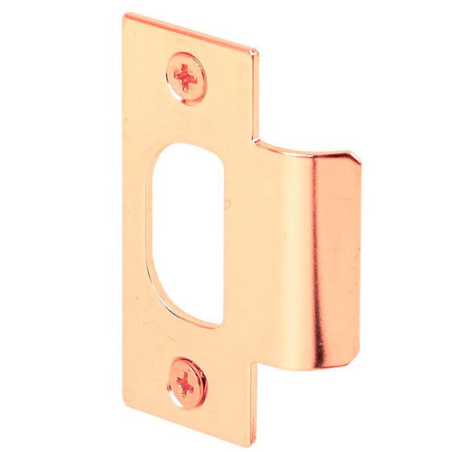 Gâche en T standard de chez Prime-Line, ajustable, acier, plaqué laiton