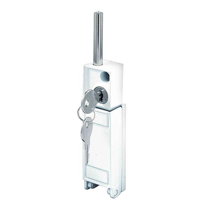 """Keyed Deadbolt Lock - Patio Door - 1 3/16"""" x 4 3/4"""" - White"""