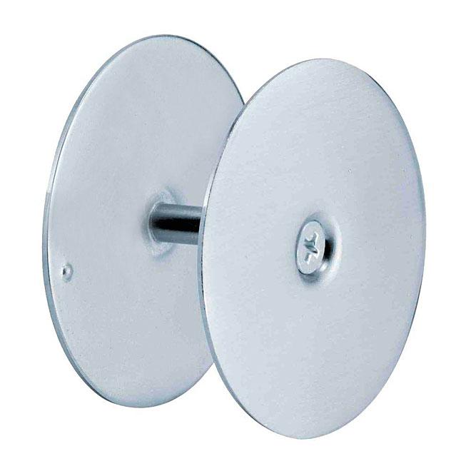Plaque de fermeture pour trou de porte Prime-Line, acier, nickel satiné, 2 5/8 po de diamètre