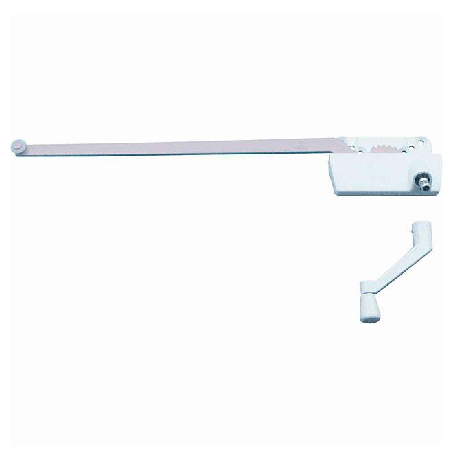 Single Arm Crank for Casement Window - White