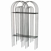 Decorative Iron Fence - 32 in x 8 in - Green