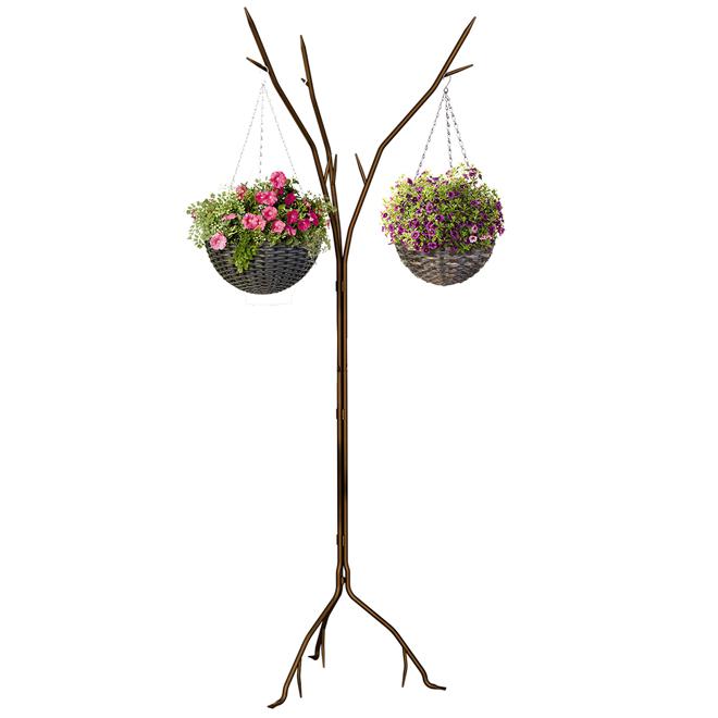 """Support à plantes en acier, 72"""", rouille"""