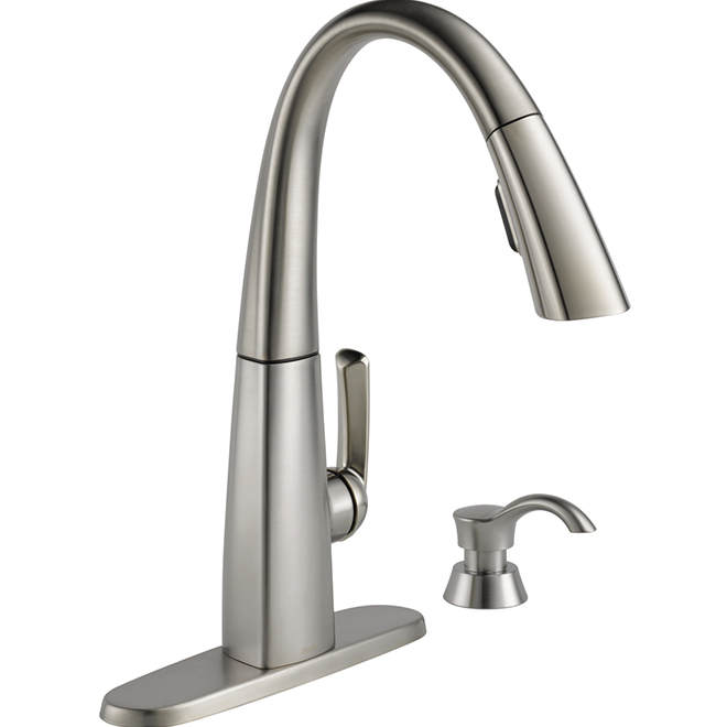 Delta Single Handle Pull Down Kitchen Faucet Stainless Steel 19936