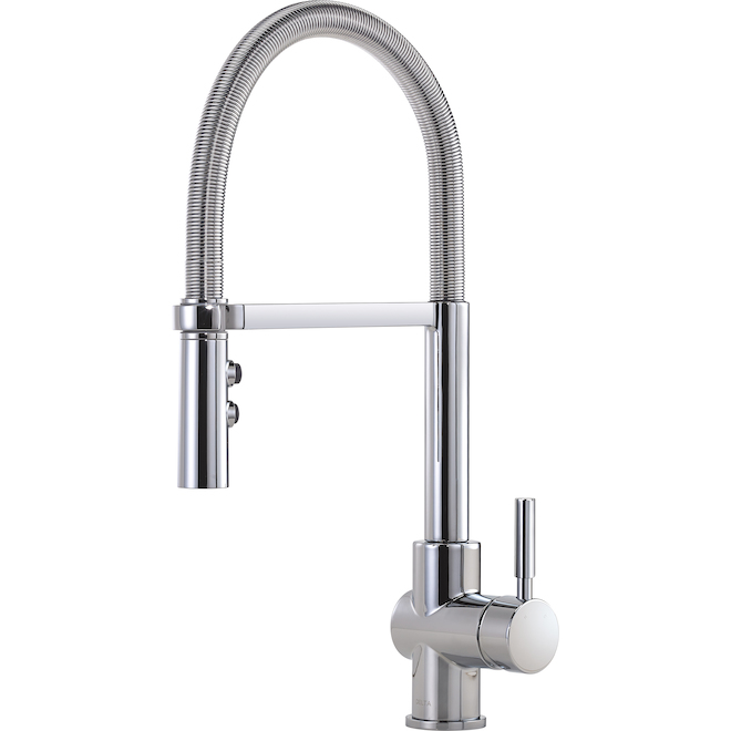 Delta Struct Chrome Pull-Down 1-handle Kitchen Faucet