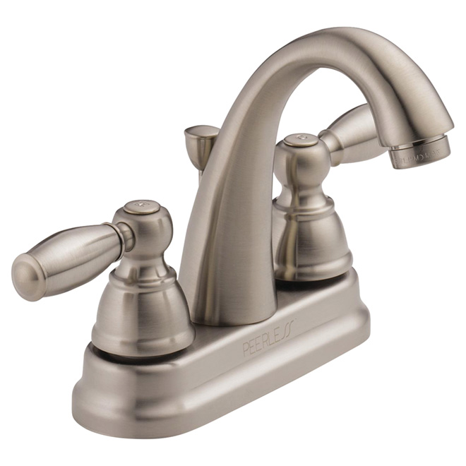 Bathroom Faucet   2 Handles   Brushed Nickel