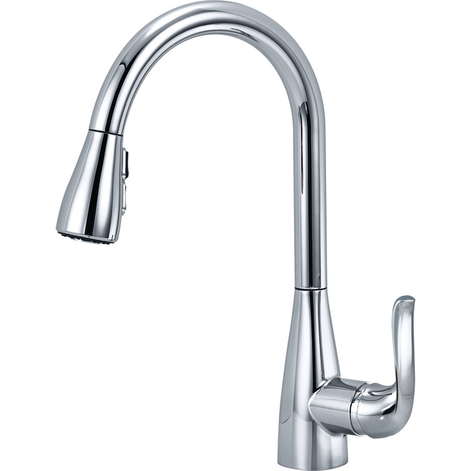 Delta 1-Handle Pull-Down Spray Kitchen Faucet - Chrome - 15-in