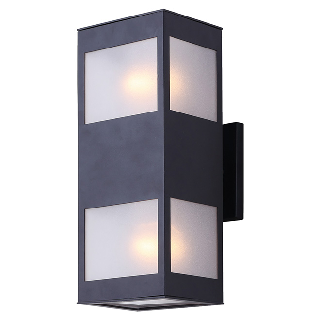 "Landscape Lighting Icon: CANARM 2-Light Outdoor Wall Light - ""Amando"" IOL268BK"