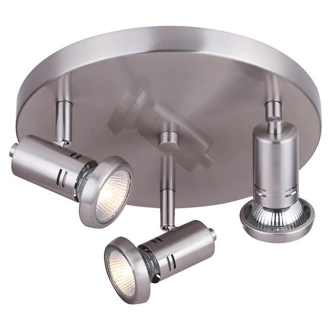 Ceiling Fixture - 3 Lights - GU10 - 50 W - Brushed Nickel